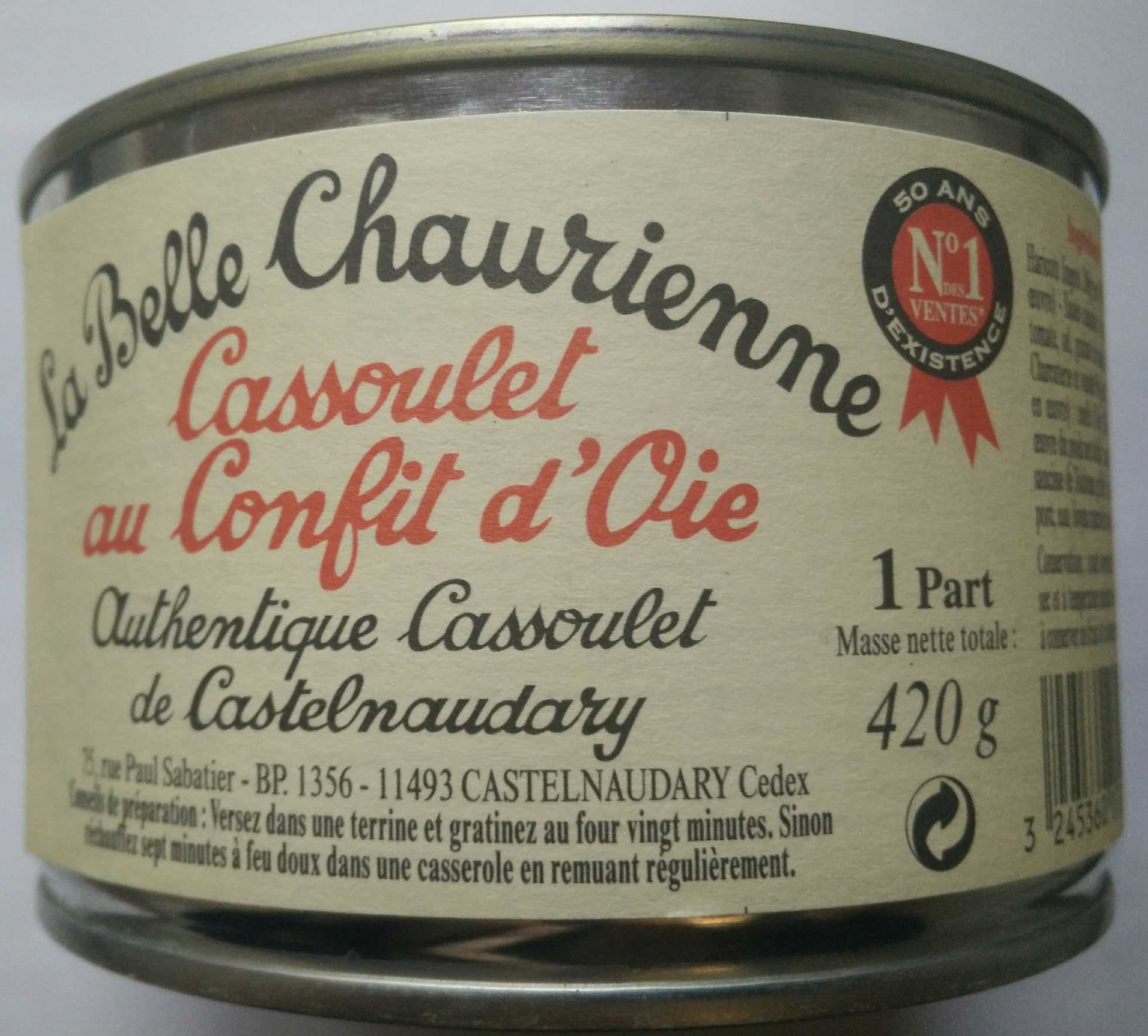 Cassoulet au Confit d'Oie - Produit