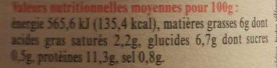 Cassoulet au Canard - Authentique Cassoulet de Castelnaudary - Informations nutritionnelles