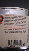 La Belle Chaurienne Cassoulet Au Confit De Canard - Ingredients - fr