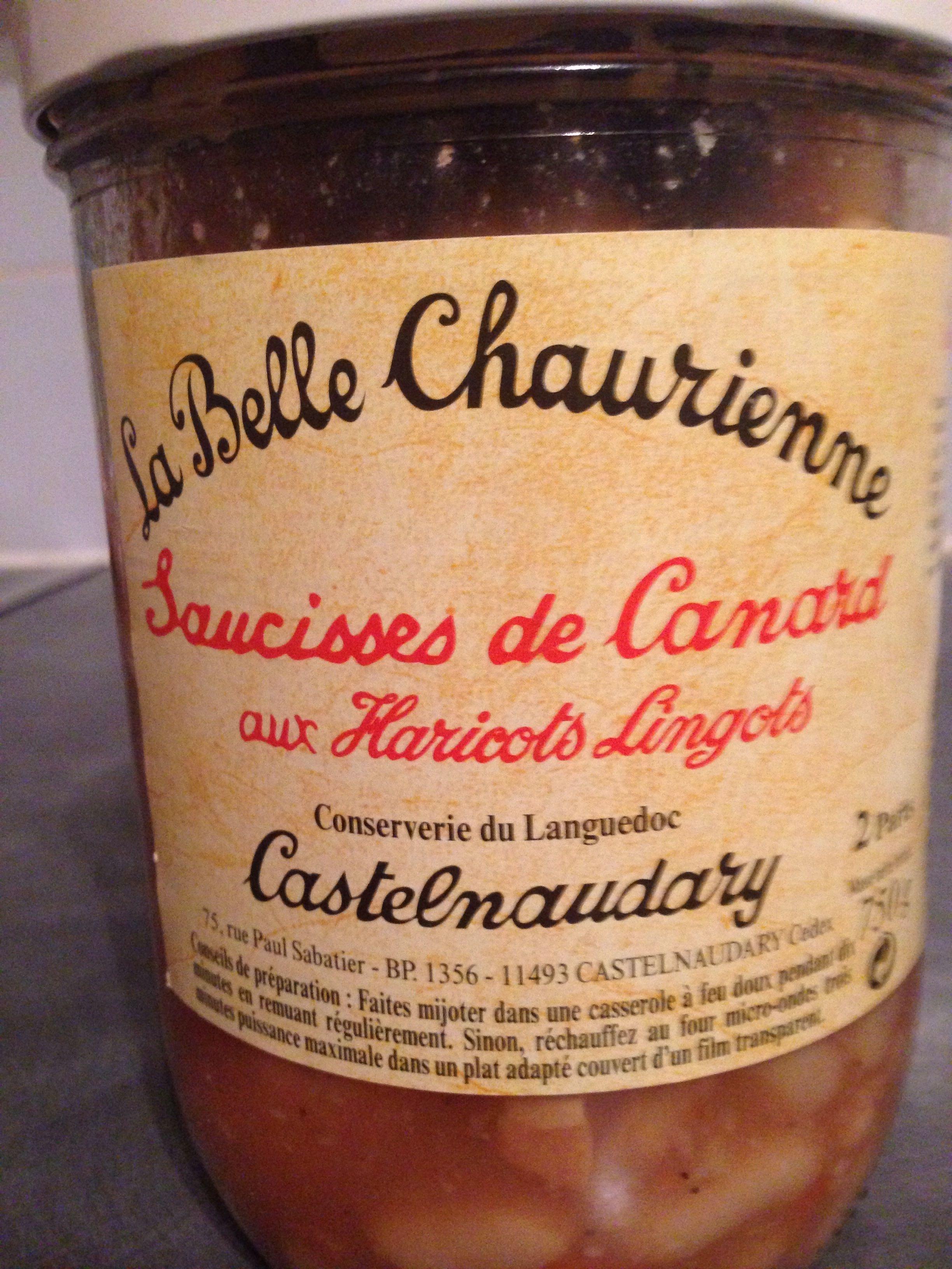 Saucisses de Canard aux Haricots Lingots - Castelnaudary - Product
