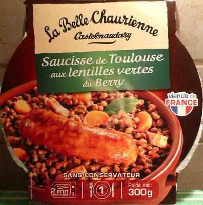 Saucisse de Toulouse aux Lentilles Vertes du Berry - Produit - fr