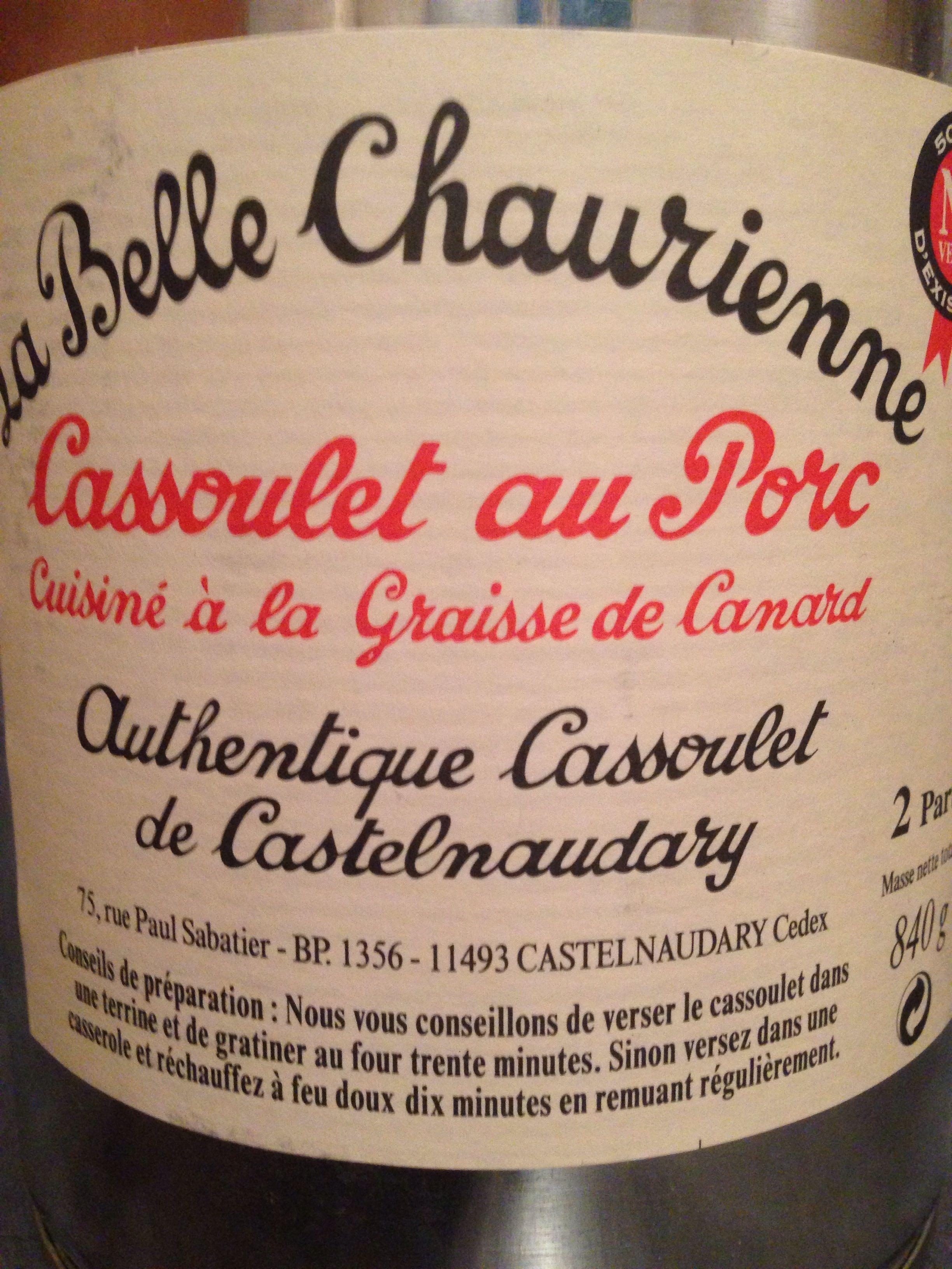 Cassoulet au Porc - Cuisiné à la Graisse de Canard - Authentique Cassoulet de Castelnaudary - Produit