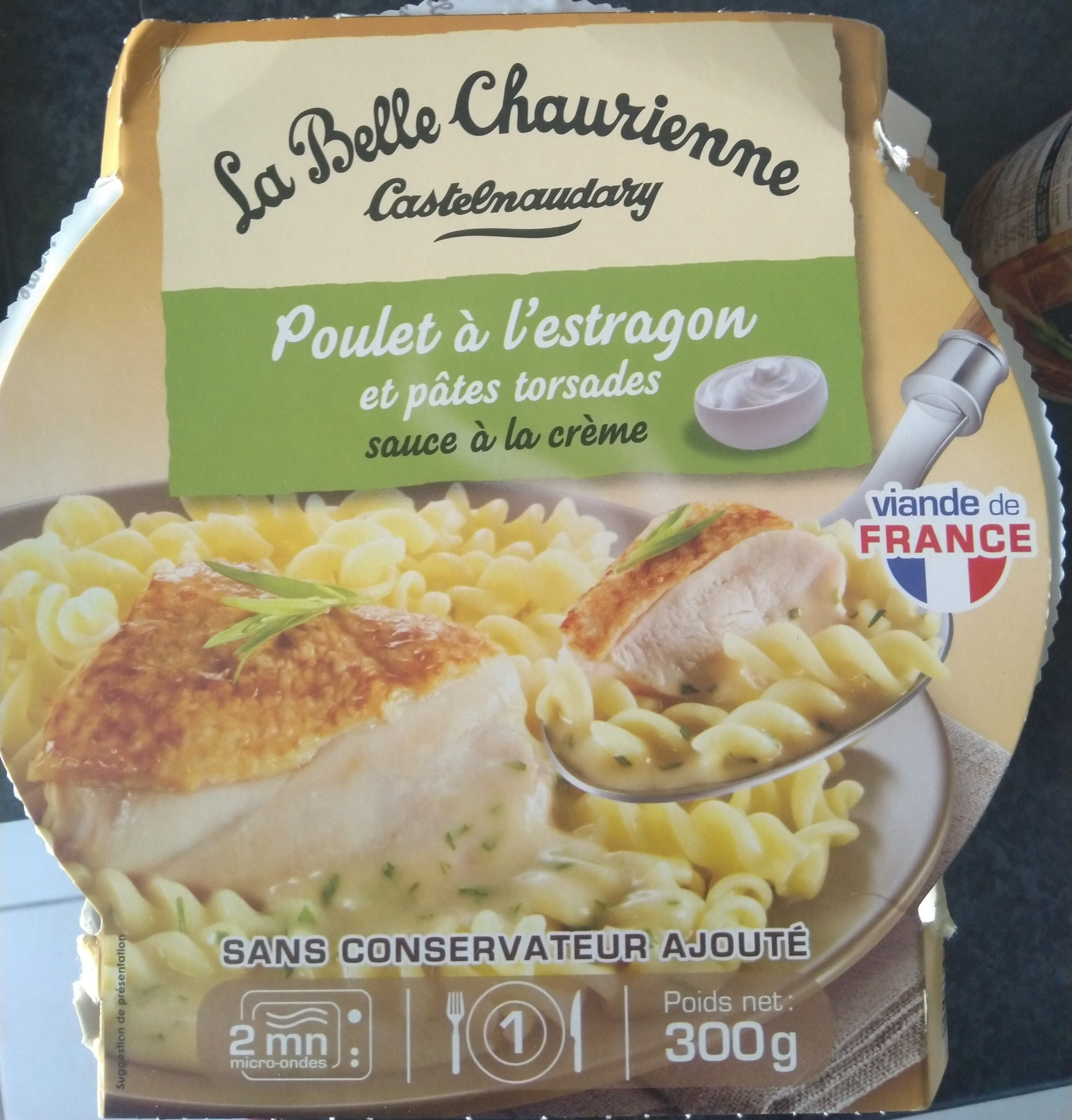 Poulet à l'Estragon et Pâtes torsades - Product - fr