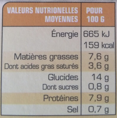Poulet à l'Estragon et Pâtes torsades - Voedingswaarden - fr
