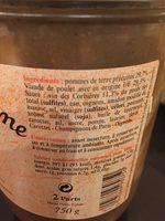 Coq au vin de Bergerac LA BELLE CHAURIENNE - Ingredients - fr