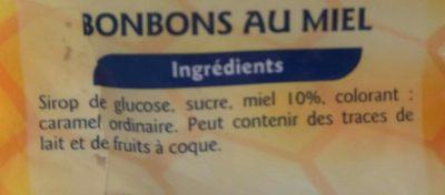 Bonbons au miel - Ingredients