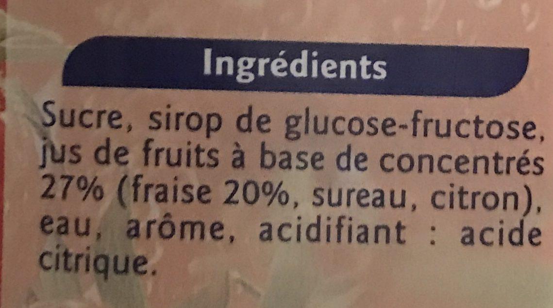 Sirop de fraise - Ingrédients