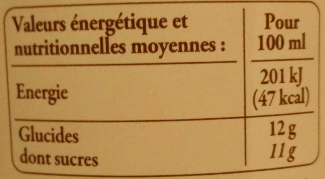 Pomme de Bretagne 100% pur fruit pressé - Nutrition facts