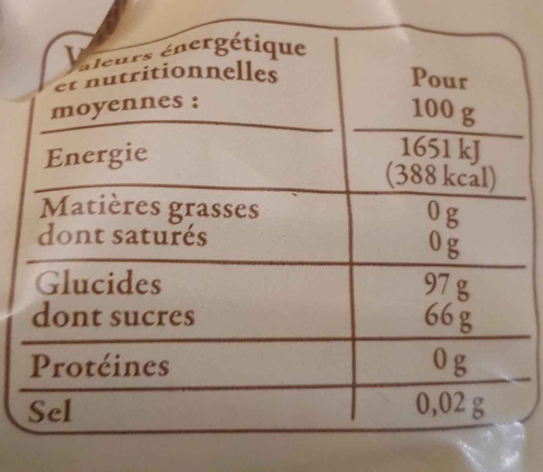 200G Betises De Cambrai Reflets De France - Informations nutritionnelles - fr