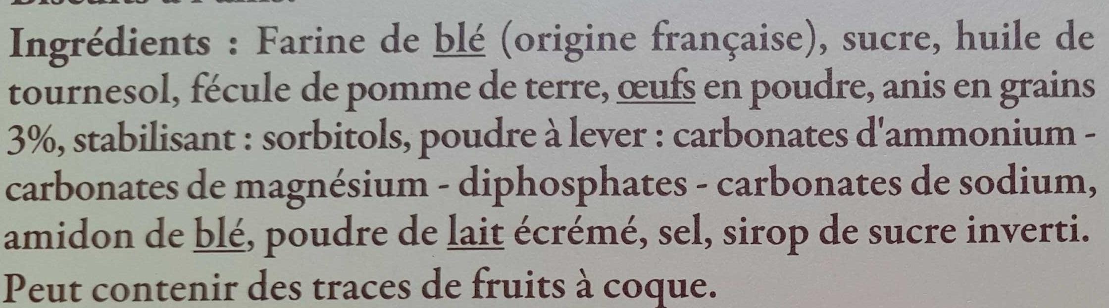 Couronnes du Roussillon à l'anis - Ingrédients - fr