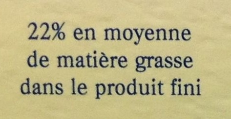 Camembert de Normandie AOP au lait cru - Informations nutritionnelles
