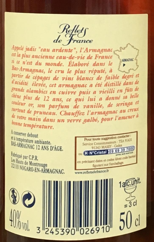 Bas-Armagnac 12 ans d'âge - Ingrédients - fr