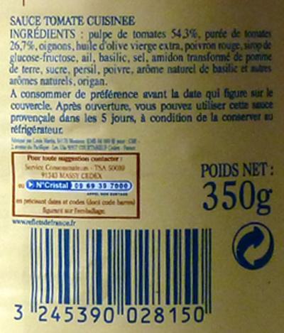 Sauce Provençale - Ingredientes - fr