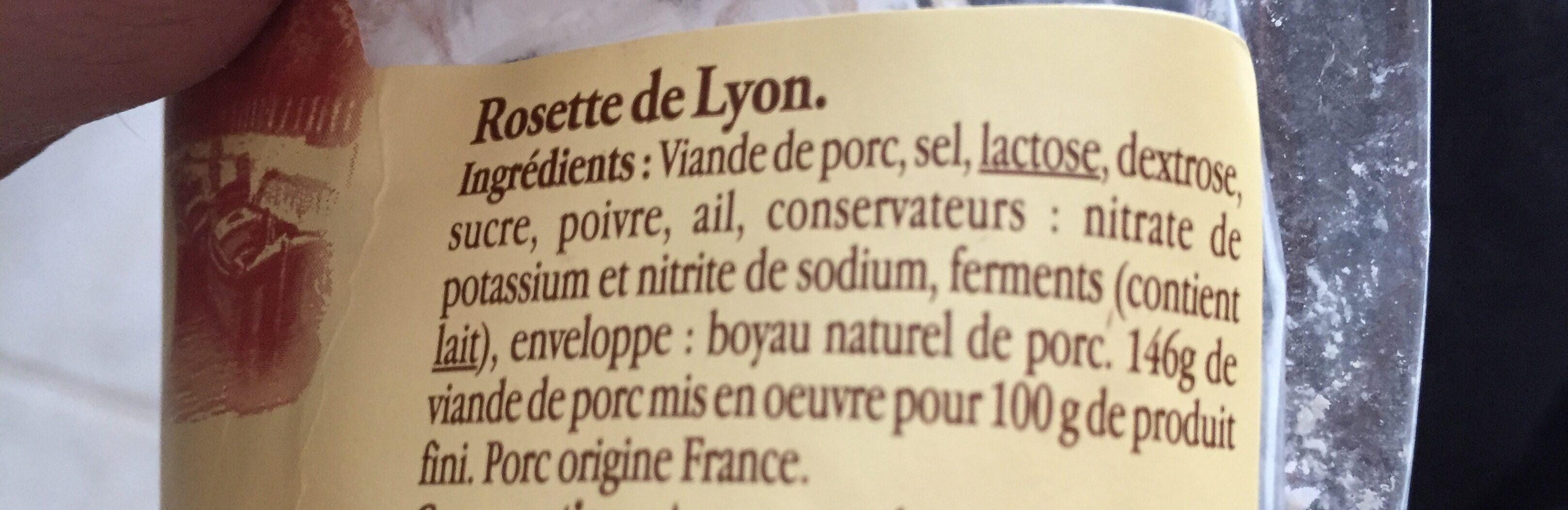 Rosette de Lyon - Ingrediënten - fr