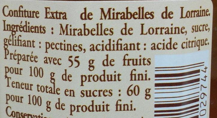 Myrtilles sauvages du Macif Central Confiture extra - Ingrédients - fr