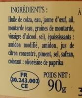 Rouille À la Provençale - Ingredienti - fr