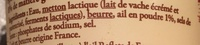 Cancoillotte à l'ail (8 % MG) - Ingrediënten
