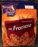 Petits pains grilles au froment - Produit - fr
