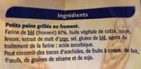 Petits pains grilles au froment - Ingrédients - fr