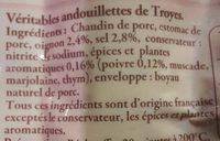 2 Véritables Andouillettes de Troyes - Ingrédients