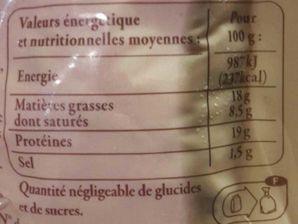 2 Véritables Andouillettes de Troyes - Informations nutritionnelles