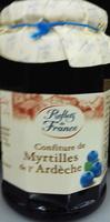 Confiture de myrtilles de l'Ardèche - Prodotto - fr