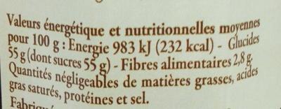 Confiture de myrtilles de l'Ardèche - Valori nutrizionali - fr
