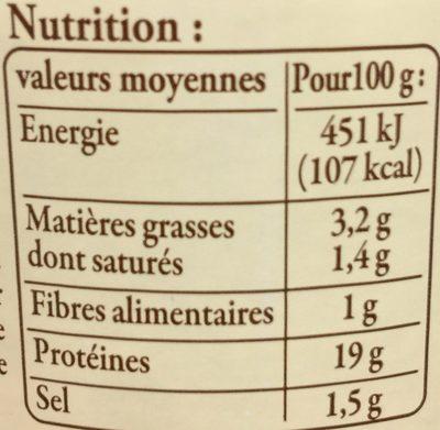 4 petits tripoux d'Auvergne - Informations nutritionnelles - fr