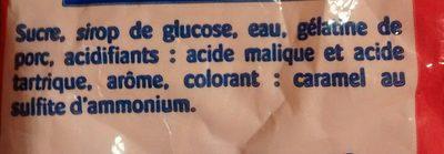 Cola'acid - Ingrediënten - fr