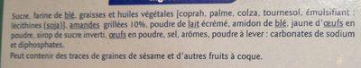 Tuiles aux amandes croustillantes - 成分 - fr