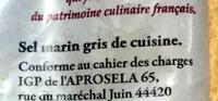 Sel de Guérande - Ingrédients - fr