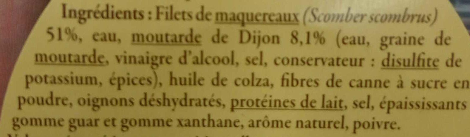 Rillettes de maquereaux préparées en Bretagne - Ingrédients - fr