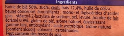 10 Pains Au Lait - Ingredients