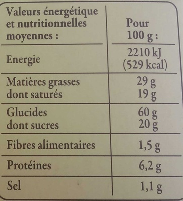 Palets de Bretagne - Nutrition facts