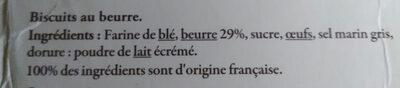 Fines Galettes de Bretagne Spécialités de Pont-Aven - Ingredients - fr