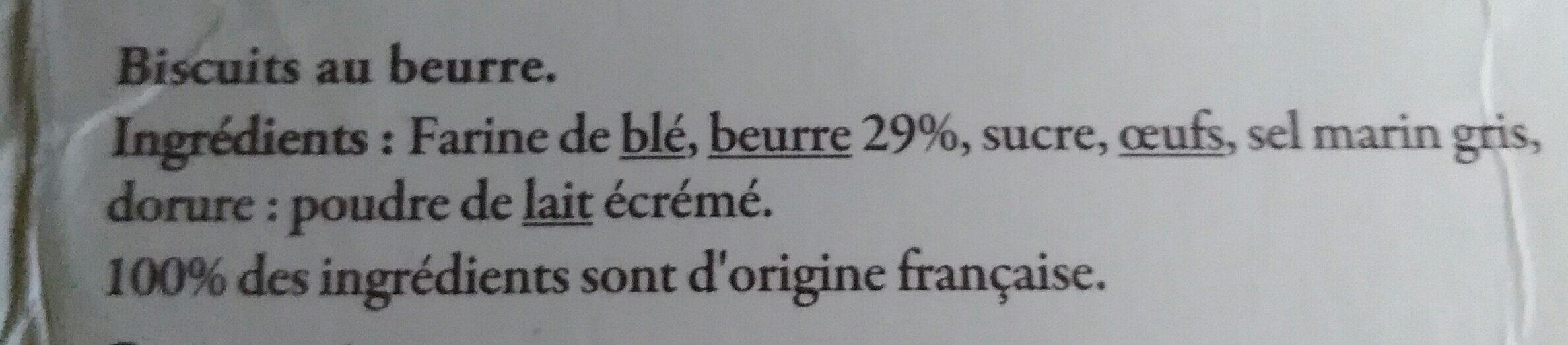 Galette Bretonnes 100g Reflets de France - Ingrédients - fr