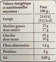 Fines Galettes de Bretagne Spécialités de Pont-Aven - Nutrition facts - fr