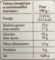 Galette Bretonnes 100g Reflets de France - Informations nutritionnelles - fr