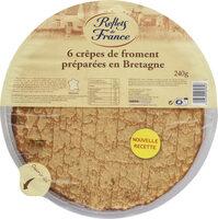 6 crêpes de froment préparées en Bretagne - Product - fr