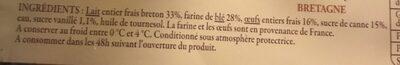 6 crêpes de froment préparées en Bretagne - Ingredients - fr