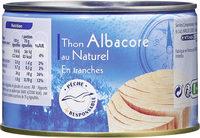 Thon Albacore  au naturel - Produit - fr