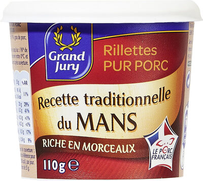Rillettes pur porc - Product - fr