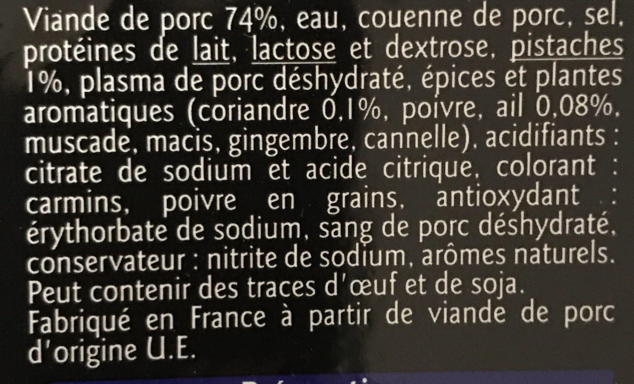 Mortadelle - Ingrédients - fr