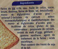 Pain de mie nature extra moelleux - Ingrédients - fr
