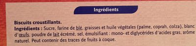 Cigarettes croustillantes - Ingredients