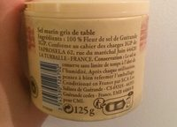 Fleur de Sel de Guérande IGP - Ingredienti - fr