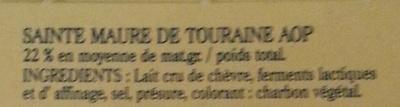 Sainte-Maure de Touraine - Ingrédients - fr
