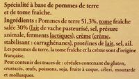 Aligot à la tome fraîche du Cantal - Ingrédients - fr