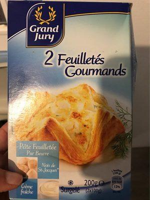 2 Feuilletés Gourmands Noix de St-Jacques Crème fraîche - Product
