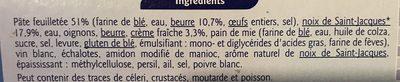 2 Feuilletés Gourmands Noix de St-Jacques Crème fraîche - Ingredients
